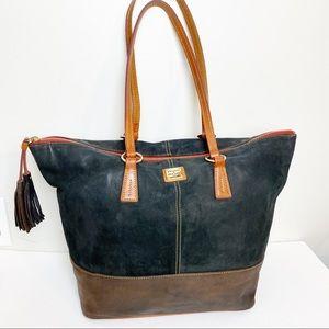 Dooney & Bourke Bag Black Brown Large Travel Tote